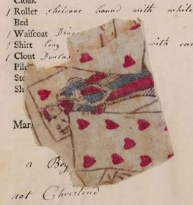 Page from Foundling Museum records