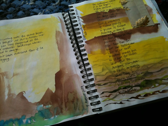 Found landscape page from Ann Rippin's sketchbook