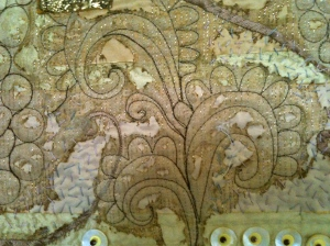Body Shop Quilt, filler panel detail