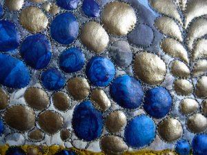 Bristol Blue Painted Bubbles, Body Shop Quilt, 2009-2010
