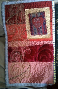 Body Shop Quilt panel made with Graham's bits