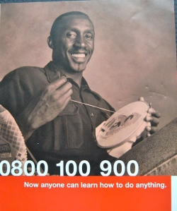 Linford Christie at his embroidery