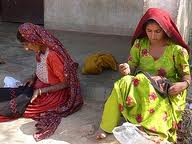 Tribal Women Embroidering