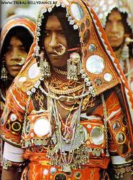 Tribal woman wearing her embroidery