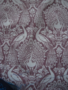 Laura Ashley peacock fabric