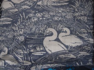 Laura Ashley Swan fabric