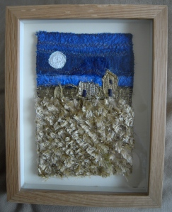 The framed embroidery