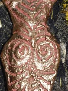 Goddess figure - DAS clay - detail
