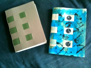 My two crossed structure bound books