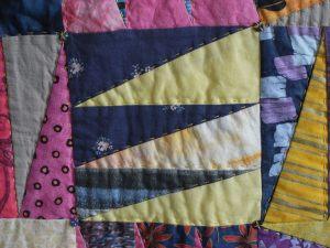 Pennants quilt, detail