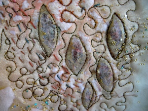 Leaves panel, 2010, detail