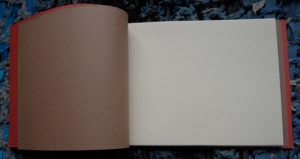 Japanese stab binding - interior