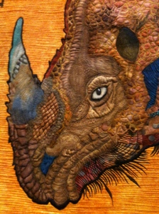 Durer's Rhinceros in stitch