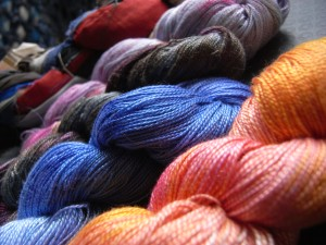 Space-dyed perle cotton from Winifred Cottage