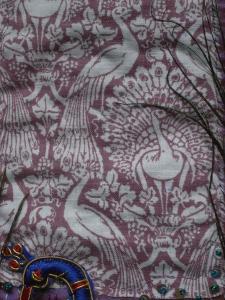 Laura Ashley peacock fabric