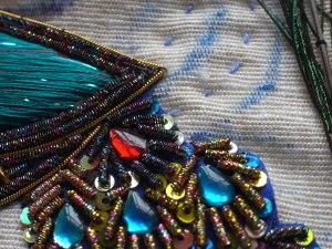 Peacock motif, detail