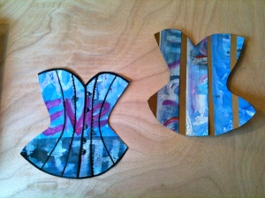 Paper collage corsets