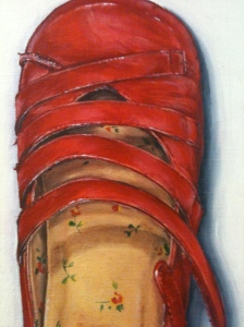 Red Shoes by Mariette Voke - detail