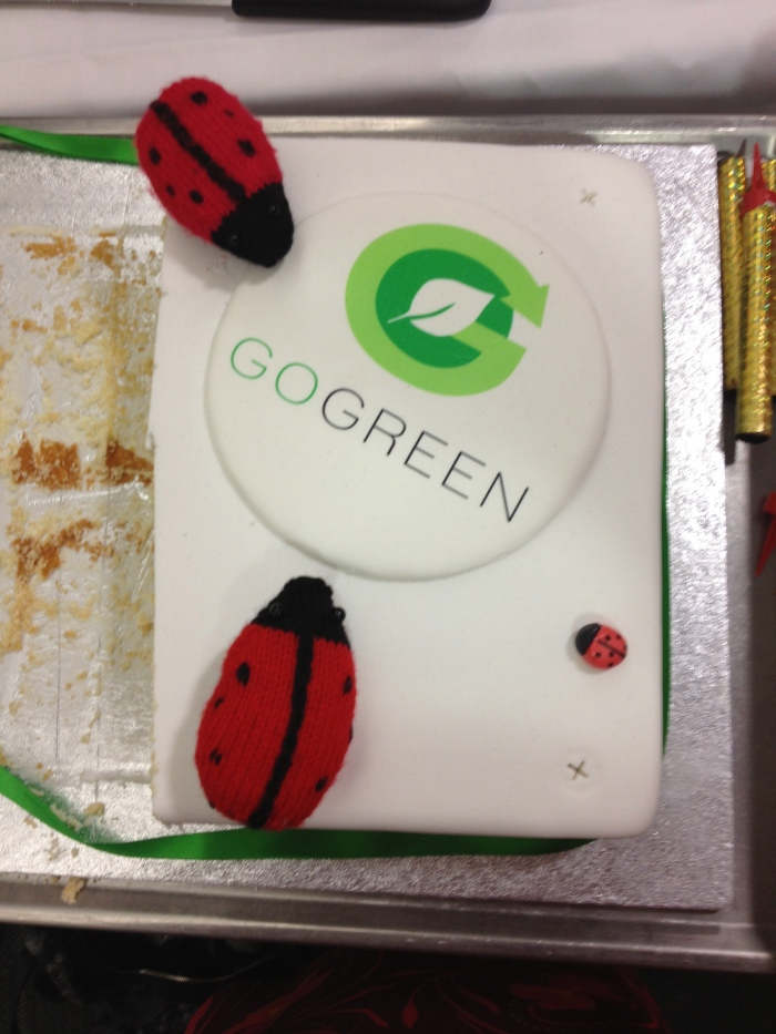 Enjoying some GoGreen cake