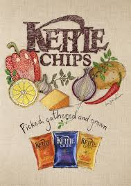 Compromises had to be made in the work produced for this Kettle Chips campaign